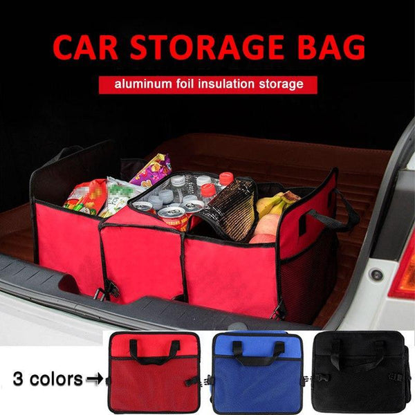 Car Trunk Organizer - Collapsible Toys, Food Storage