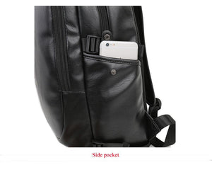 Casual leather laptop backpack EvoFine