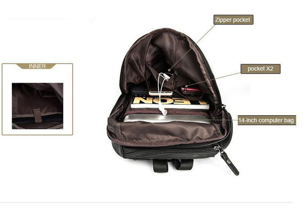 Fashion Travel Backpack - Fashionable Leather Laptop Backpack