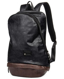 Classic Fashion leather Backpack Travel laptop Friendly EvoFine Black