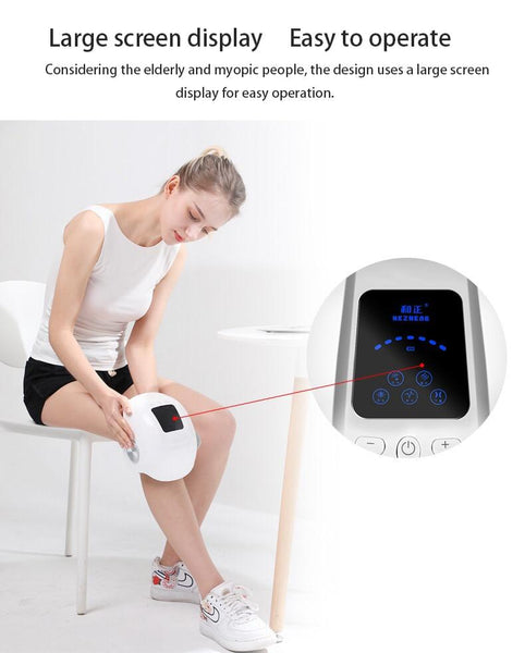 Cordless Compression Knee Massager with Heat and Kneading