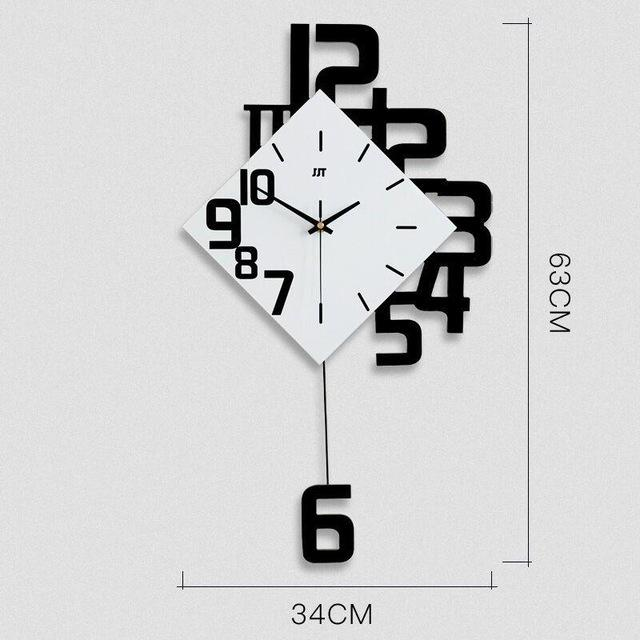 Creative Modern Wall Clock EvoFine Black