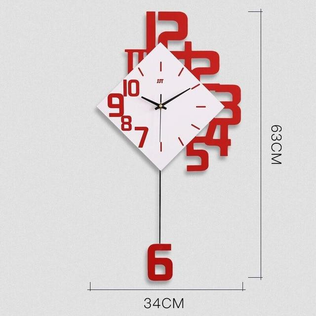 Creative Modern Wall Clock EvoFine Red