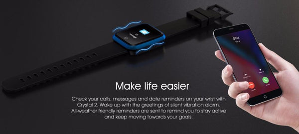 Crystal Smart Fitness Smartwatch Waterproof For Android IOS