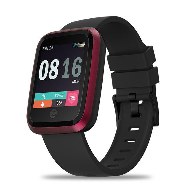 Crystal Smart Fitness Waterproof Smartwatch For Android IOS EvoFine Pink