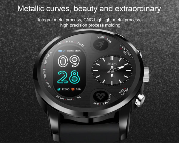 Dual Display Waterproof SmartWatch for Android and iOS