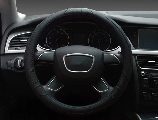 EvoFine Genuine Leather Steering Wheel Cover