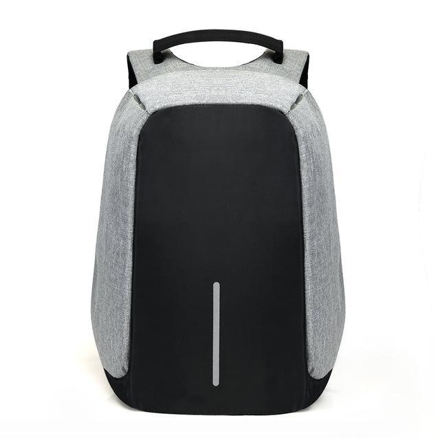 Exclusive Anti Theft Backpack -USB Charging Travel Friendly Evofine Gray