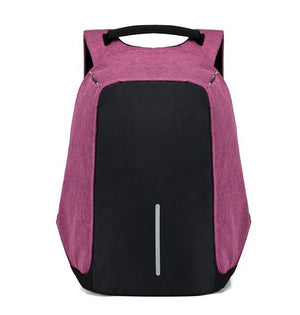 Exclusive Anti Theft Backpack -USB Charging Travel Friendly Evofine Pruple
