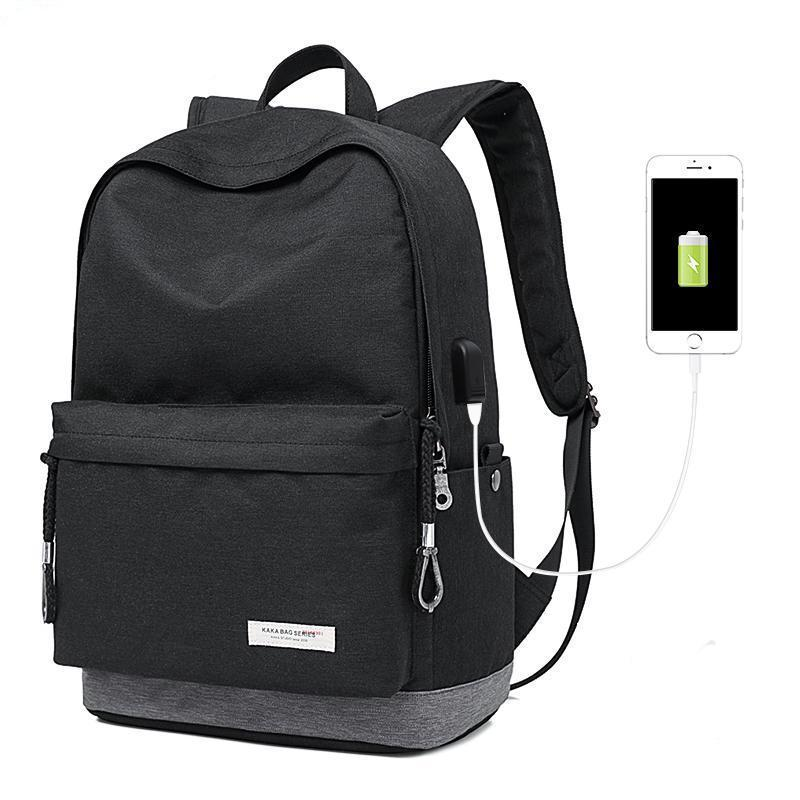 Exclusive Casual Backpack - USB Charging Waterproof Evofine Black