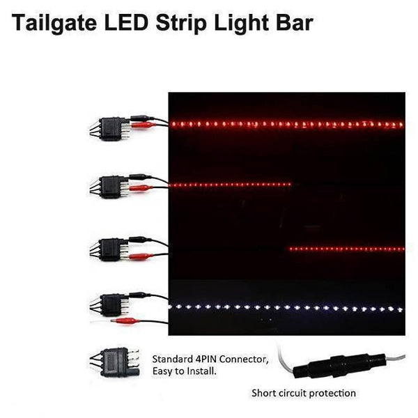 Exclusive led tailgate light bar