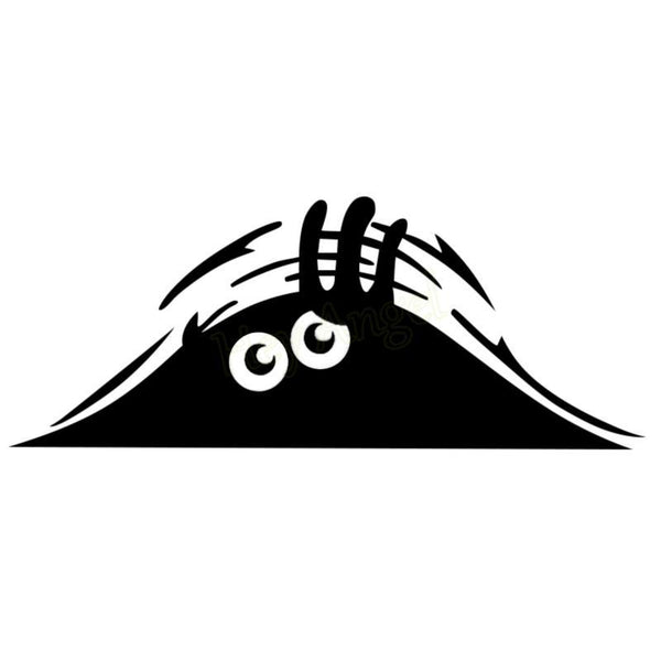 Eyes Peeking Monster Car Sticker