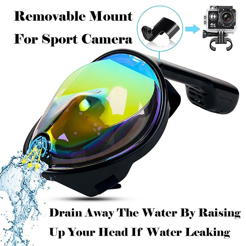 Full Face Snorkeling Mask with Detachable Camera Mount Snorkel Mask EvoFine