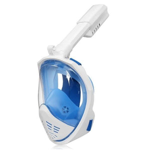 Full Face Snorkeling Mask with Detachable Camera Mount Snorkel Mask EvoFine Blue white S/M