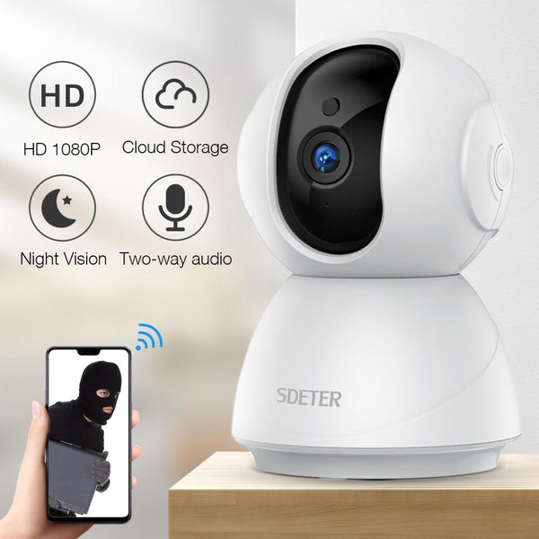 Home Security Camera Wireless Surveillance HD Plug-in Indoor WiFi Camera System