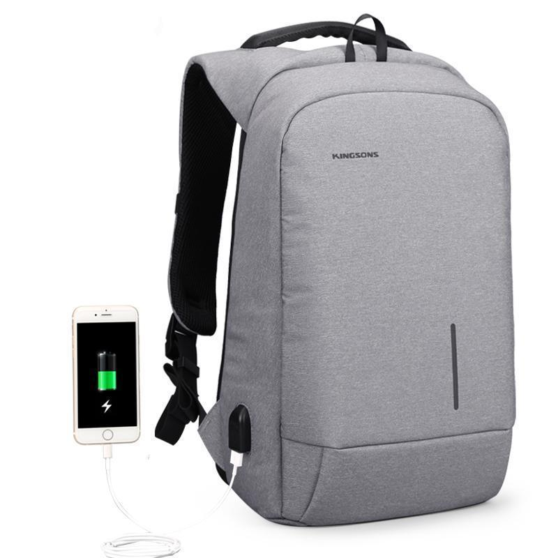 Laptop Anti theft Backpack- Password Lock & Phone Charging Evofine