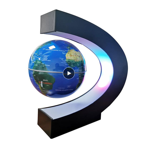 Magnetic Levitation Floating World Map Globe with C Shape