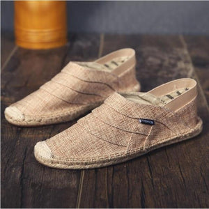 Men Fashion Casual Flat Loafer Men Shoes EvoFine khaki A13 41