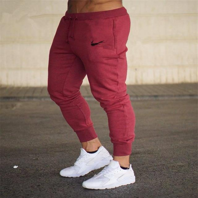 Men Joggers Casual Pant Evofine Red-3 XL
