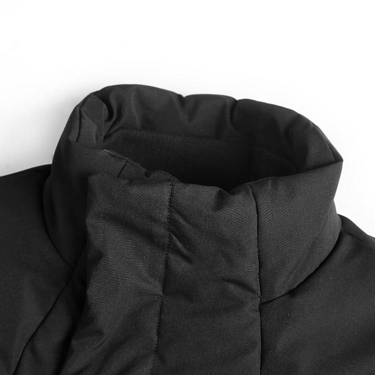 Men Winter Jacket Fashion Black Cotton Collar Coat Winter Jacket EvoFine