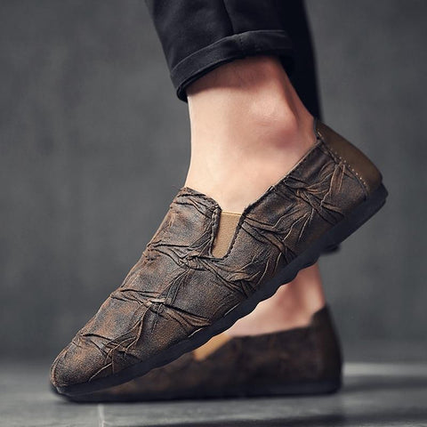 Mens Fashion Casual Shoes Slip-on Driving Style Loafer Evofine