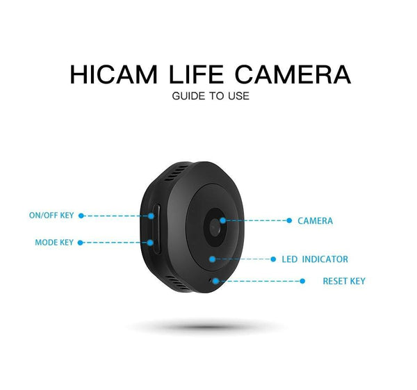 Mini WiFi Camera - Wireless Hidden HD 1080P Portable Small Camera