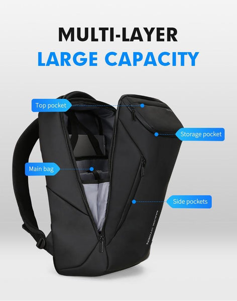 Multifunctional Anti-thief Fashion Backpack 15.6 inch Laptop USB Charging Travel Bag