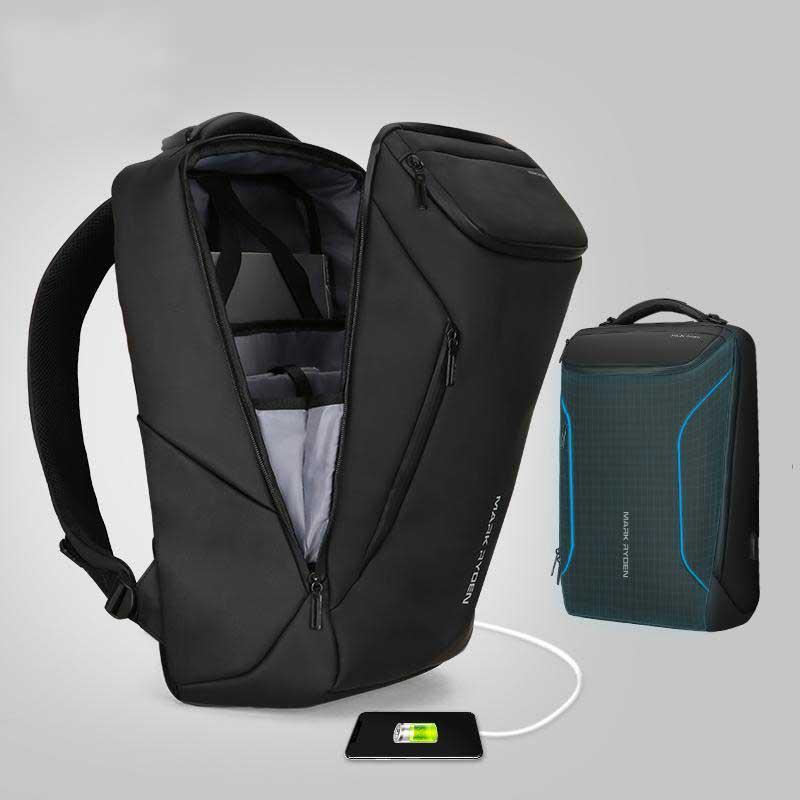 Multifunctional Anti-thief Fashion Backpack 15.6 inch Laptop USB Charging Travel Bag Evofine
