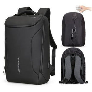 Multifunctional Anti-thief Fashion Backpack 15.6 inch Laptop USB Charging Travel Bag Evofine Black