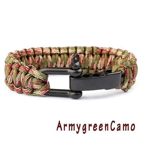 New Braided Bracelet Evofine ArmygreenCamo