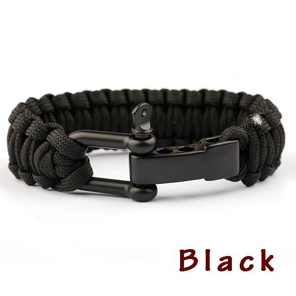New Braided Bracelet Evofine Black