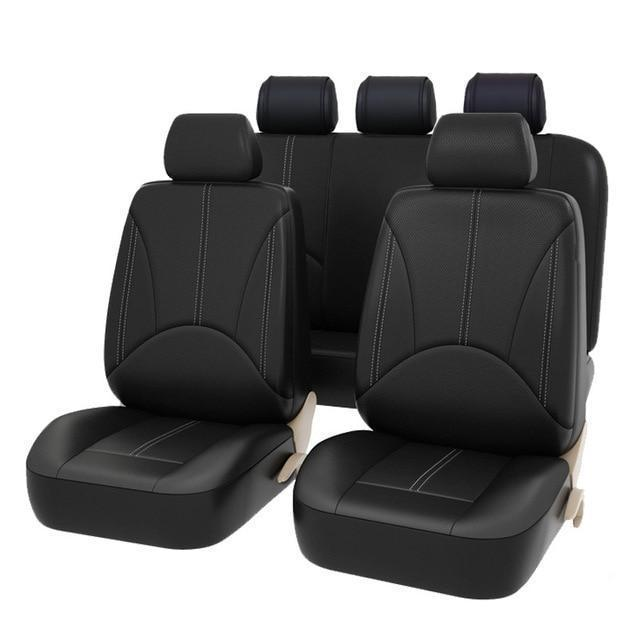 New Luxury PU Leather Auto Universal Car Seat Covers Evofine 1 set seat cover