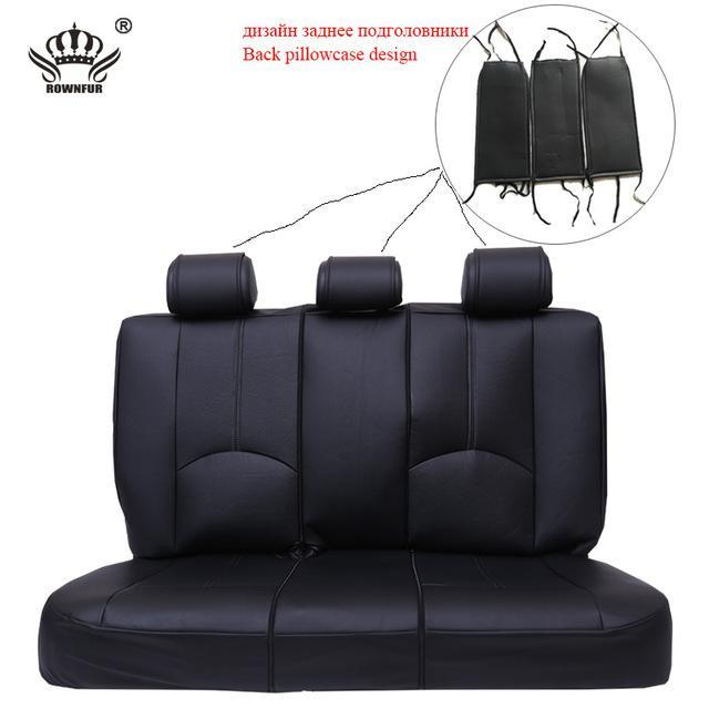 New Luxury PU Leather Auto Universal Car Seat Covers Evofine Back Seat Cover