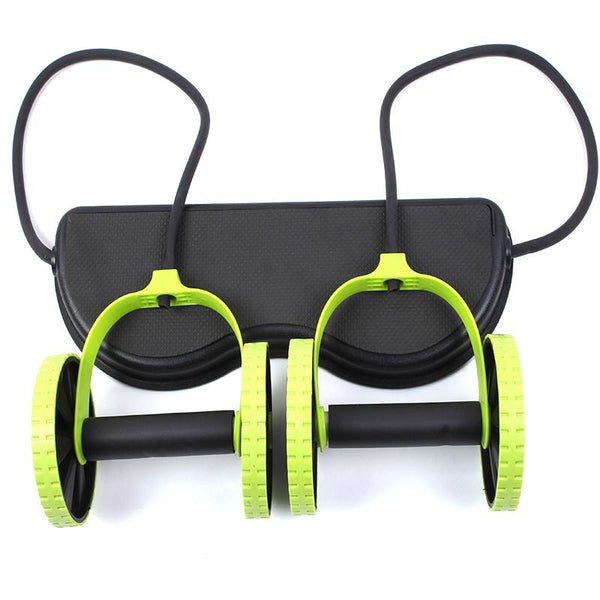 New Sport Core Double AB Roller Wheel Fitness Exercises Equipment