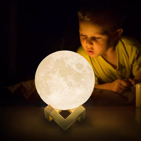 Night Light 3D Print Moon Lamp Rechargeable