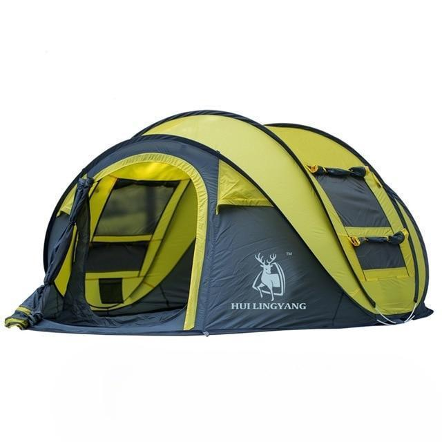 Outdoor Automatic Tents Evofine Yellow