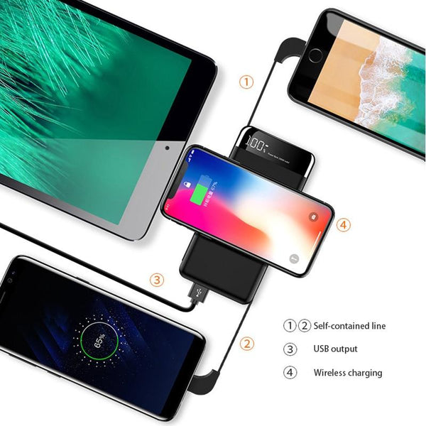 Portable Wireless Charger - Fast Wireless Charging Battery Pack