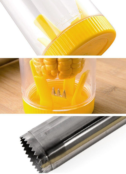 Premium Easy Corn Stripper - Stainless Steel Cob Remover Cutter Shaver