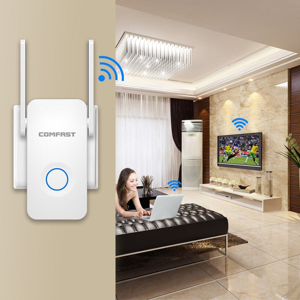 WiFi Range Extender - Up to 1200Mbps WiFi Repeater Wireless Signal Booster