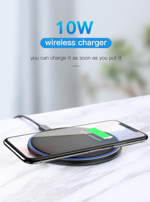Qi-Certified 10W Fast Wireless Charging Pad Wireless Charger EvoFine