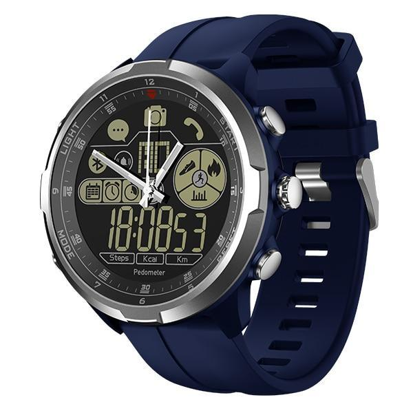 Rugged Smartwatch V4- Compatible with iOS & Android EvoFine Blue