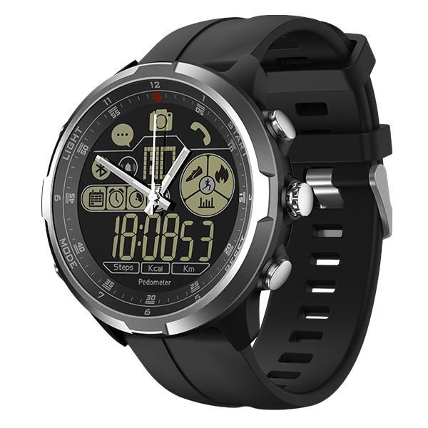 Rugged Smartwatch V4- Compatible with iOS & Android EvoFine Silver
