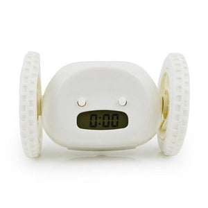Runaway Digital Alarm Clock Evofine White