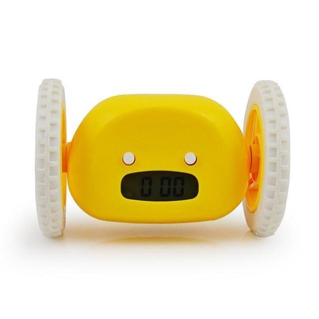 Runaway Digital Alarm Clock Evofine Yellow