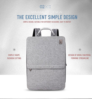 Slim Minimalism Laptop Travel Backpack - Waterproof Fashion Style Bags EvoFine