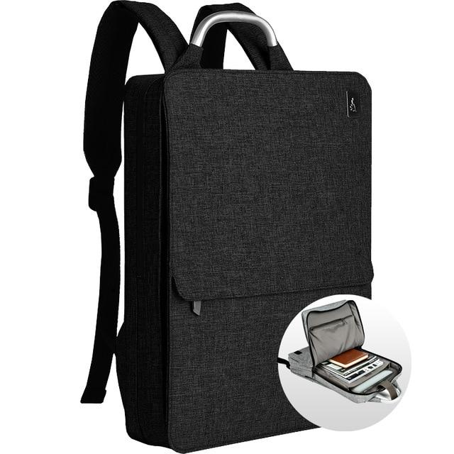 Slim Minimalism Laptop Travel Backpack - Waterproof Fashion Style Bags EvoFine Black Gray
