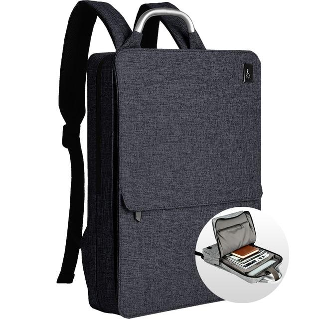 Slim Minimalism Laptop Travel Backpack - Waterproof Fashion Style Bags EvoFine Blue Gray
