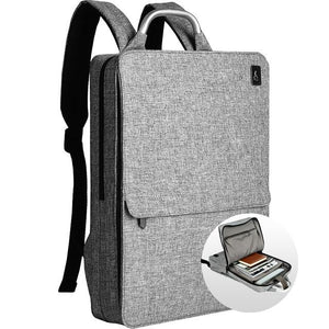 Slim Minimalism Laptop Travel Backpack - Waterproof Fashion Style Bags EvoFine Gray