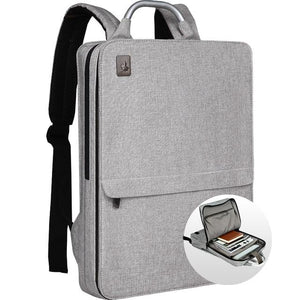 Slim Minimalism Laptop Travel Backpack - Waterproof Fashion Style Bags EvoFine Light Khaki