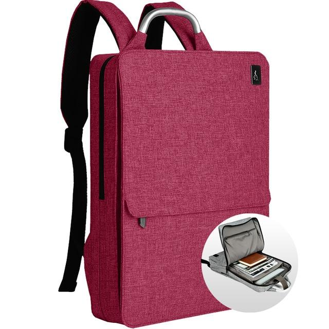 Slim Minimalism Laptop Travel Backpack - Waterproof Fashion Style Bags EvoFine Red